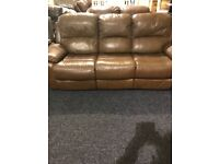 Full recliner 3/2 real leather suite