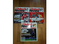 3 Manchester United Match Magazines 'United Review'