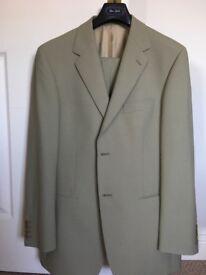 Men's smart beige Van Gils suit 40R