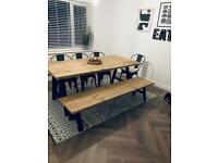 Stunning Dining Table & Bench & Chairs