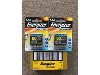 AAA Batteries enerizer 4 pack brand new x37