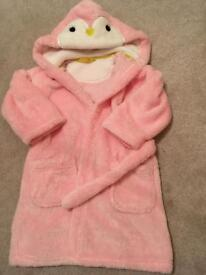 M & S Girls Dressing Gown age 2-3yrs euc
