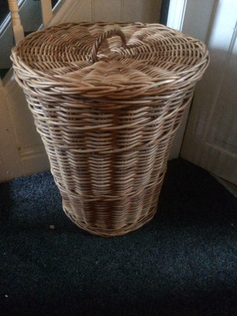 Large Wicker Laundry Basket In Hyde
