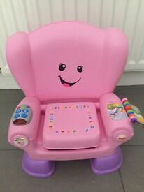 Fisher Price Laugh and Learn Smart Stages chair. Pink