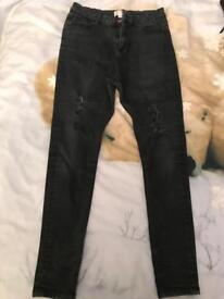Ladies Miss Selfridge ripped skinny jeans