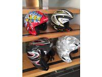 Ski/ snowboard helmets, children's, various sizes