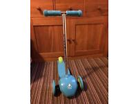 Elc 3 ride and glide wheeled scooter