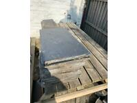 Reclaimed slate roof tiles