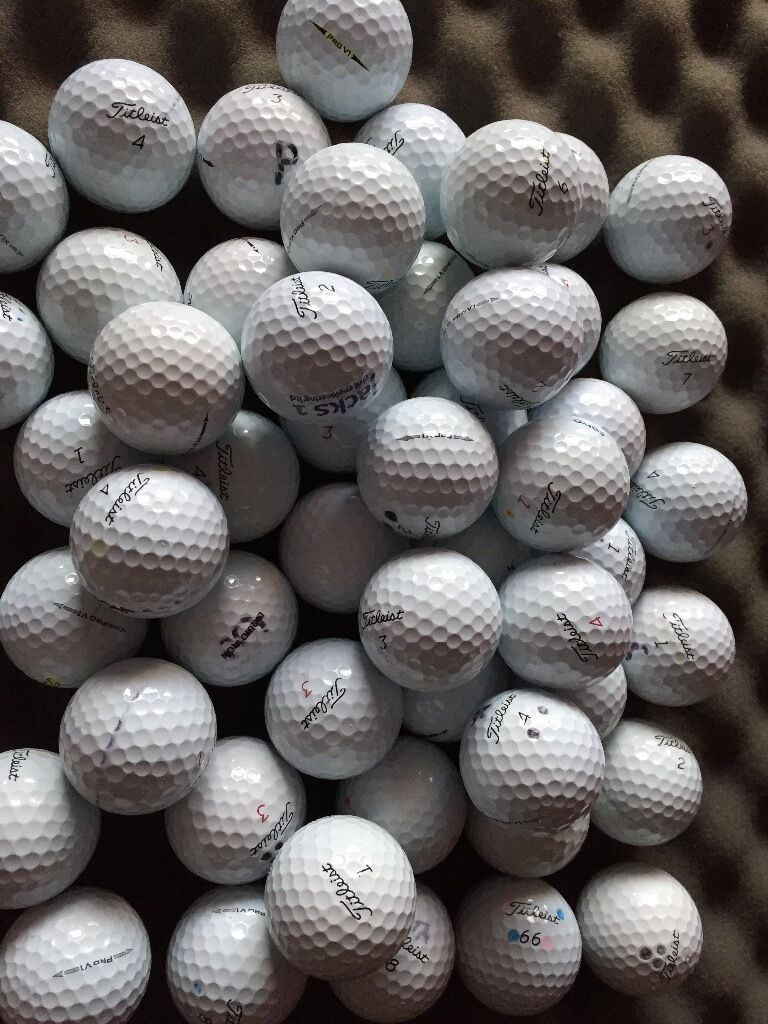 50 TITLEIST PRO V1 GOLF BALLS,GOOD CONDITIONin Airdrie, North LanarkshireGumtree - 50 GOOD TITLIEST PROV1 V1x Golfballs,balls have been used still in good condition