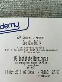 Goo goo dolls tickets (2)