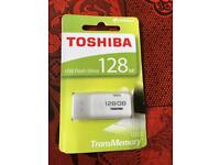 original brand new sealed massive 128GB USB Toshiba flash drive no offers