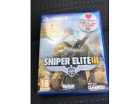 PS4 game sniper elite 3