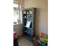 Lovely wooden bookcase painted in Annie Sloan duck egg blue