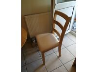 Excellent condition wooden extendable dining table and 4 chairs