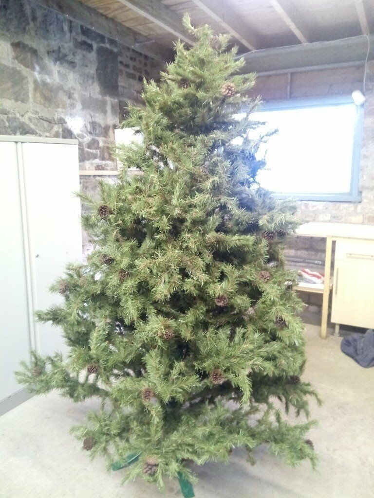 Most Realistic Artificial Christmas Tree.Reduced Price Amazing Very Realistic Approx 8 Artificial Christmas Tree Pine Cones And Stand 55 In Comely Bank Edinburgh Gumtree