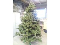 Amazing,very realistic, approx 8' artificial Christmas Tree, with pine cones and stand. £75