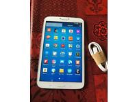"""Samsung galaxy tab 3 SM-T310 WiFi only bigger 8"""" 16GB pearl white excellent condition no offers"""