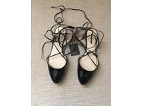 Zara black shoes new with tags size 41