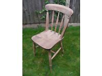 Authentic Antique Wooden Windsor Country Farmhouse Dining Chair Bedroom