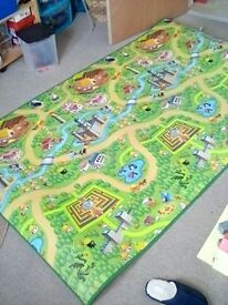 Large fantasy land play mat, castles.