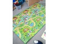 Large fantasy land play mat, castles.