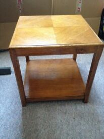 Side table, 1930 - 50? Art Deco or Arts and Crafts. 45cm square x 45 cm high