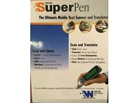 Wizcom Super Pen. The Ultimate mobile text scanner and translator.