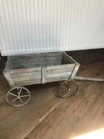 Lovely Wooden Cart Planter