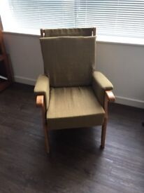 Hessian material sitting chair