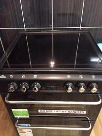 Black cooker electric double oven