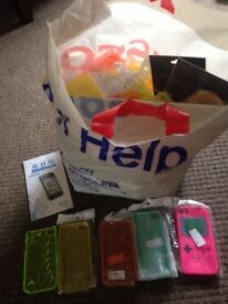 iPhone cases and screen covers, for different models and variety of colours