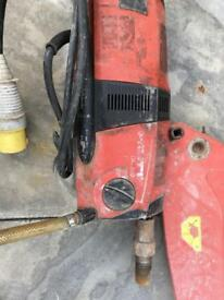 Hilti DD200 coring drill with rig and vacuum mount