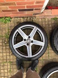 "MOMO Hyperstar evo 17"" alloys x4 with tyres"