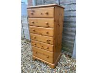 Ducal solid pine slim chest of drawers. Dovetail Joints. Possible delivery