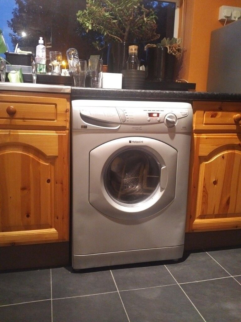 Hotpoint Aquarius Washer Dryer Wd645 1400 Spin Silver