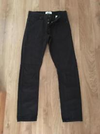 Men's Boys Black Jeans W30 L32