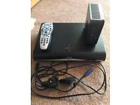 Sky+ HD box & router