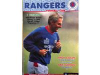 Glasgow Rangers FC Programmes 1985 to 2005 - around 150 programmes, Rangers News
