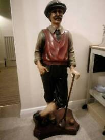 1 metre tall golf statue shop display figure