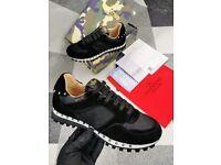 Men's Black White sole Trainers Sizes 7 --11
