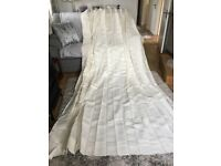 "NEVER USED 120""x 100"" LINEN CURTAIN"