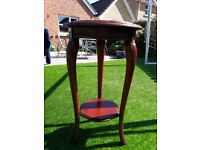 Solid mahogany occaional table/stand with marble top