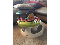 Mamas and Papas Bumbo chair + Toy tray