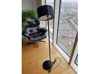 Black Ikea Standing Floor Lamp with adjustable neck *as new*