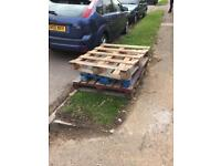 Free - three wooden pallets
