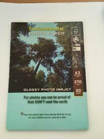 Glossy A3 Photo Paper (20sheets)