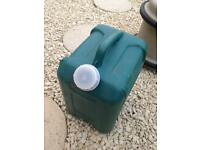 Water containers camping caravan