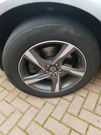 """Volvo xc60 18"""" wheels and tyres plus spare tyre"""