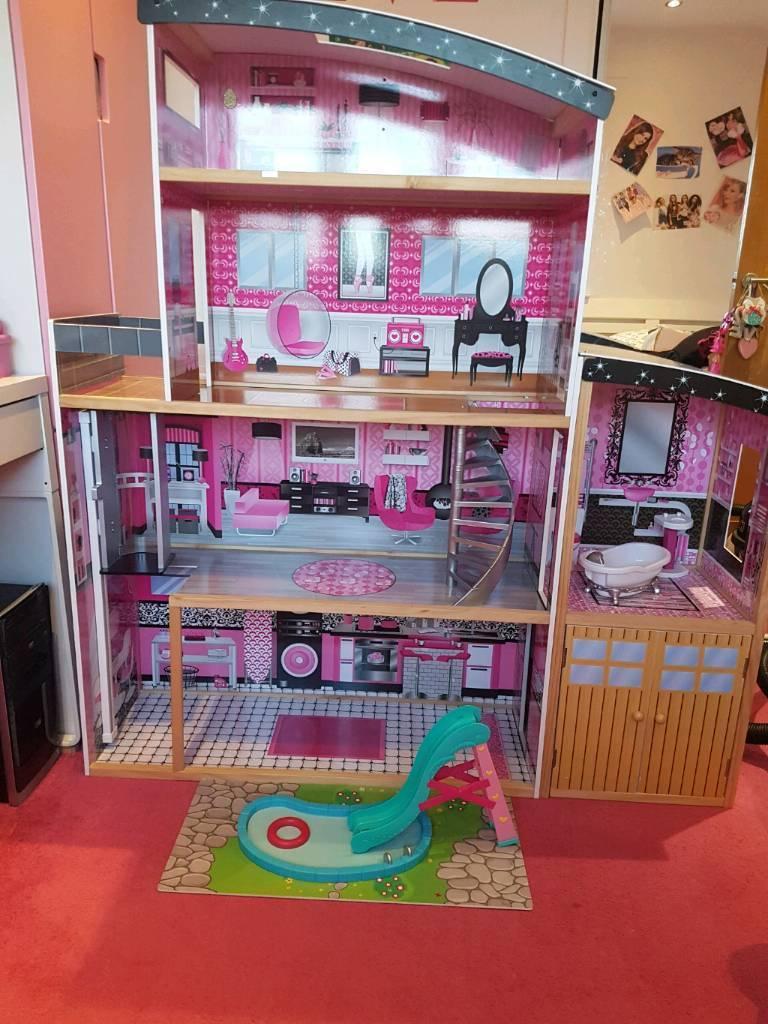 Large Kidkraft Sparkle Mansion Dollhouse In Clydebank West