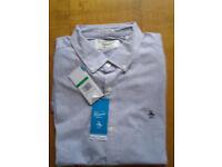 "Men's Original Penguin Shirt. Slim fit. Long sleeves. Collar 17"". Large."